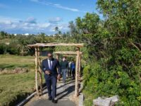 Minister Tours Riddell's Bay Conservation Area