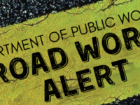 Public Works Notice Of Lane Closure On Middle Road West Of Burnt House Hill Until End Of The Year