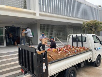 BELCO Food Drive Provides '700 Bags Of Food To Hundreds Of Families'