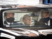 Prince Philip, 99, Waves As He Arrives At Windsor Castle To Be Reunited With The Queen