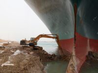 Global Trade Losing Billions As Workers Move Tons Of Sand To Refloat Cargo Ship Wedged In Canal