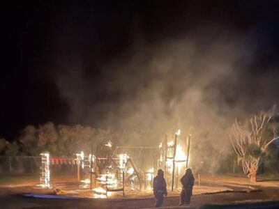 Fire Destroys Playground Equipment At Pig's Field In Pembroke
