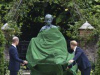 Harry & William Laugh & Joke As They Unveil Princess Diana's Statue
