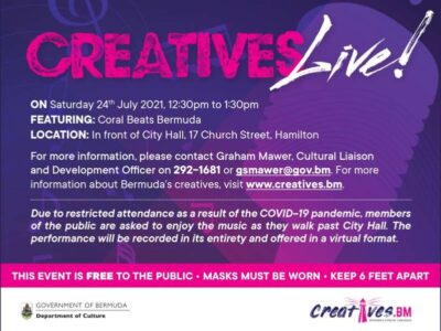 Public Encouraged To Support Local Talent At Safely Distanced Midday Concert Today