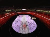 Tokyo 2020 Olympic Games Kick Off In Nearly Empty Stadium As COVID Crisis Drags On