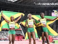 1 2 3Olympic Record Smashed As Jamaican Women Sweep 100M