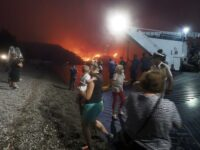 Thousands Flee Greek Island As Wildfires Raze Forest & Homes