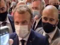 Egg Thrown At French President Macron During Food Trade Fair