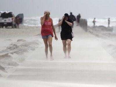 Hurricane Nicholas Makes Landfall On The Texas Coast