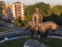 Statue of Confederate Robert E Lee coming down in Virginia